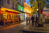 Evening Scene in Place Du Tertre, Montmartre, Paris, France Photo by Brian Jannsen