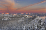 Sunset over the Whitefish Range and Flower Point in Whitefish, Montana Photographic Print by Chuck Haney