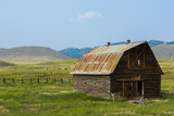 Butte, Montana Old Worn Barn in Farm County Photographic Print by Bill Bachmann