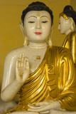 Myanmar. Yangon. Shwedagon Pagoda. Buddha in the Discussion Mudra Photo by Inger Hogstrom