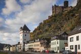 Germany, Rheinland-Pfalz, St. Goarshausen, Burg Katz Castle and Town Photo by Walter Bibikow