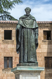 Spain, Salamanca, Statue of Frei Luis de Leon in Yard of the Clergy Photo by Jim Engelbrecht