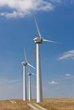 Wind Turbines, on Wind Farm, Mid-Wales, Wales, UK Photo by Peter Adams