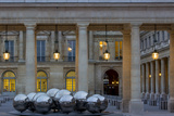Twilight in the Courtyard of Palais Royal, Paris, France Photo by Brian Jannsen