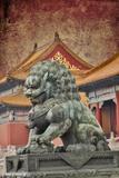 Lion Statue Standing Guard Forbidden City, Beijing, China Photo by Darrell Gulin