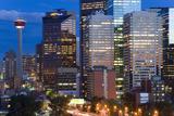 City at Dusk, Calgary, Alberta, Canada Photo by Peter Adams