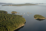 Canada, B.C., Gulf Islands, Aerial of the Southern Gulf Islands Photo by Kevin Oke