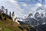Chapel Barbarakapelle in the Village of Wengen, South Tyrol. Italy Photo by Martin Zwick