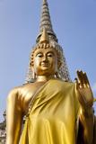 Buddha Statue, Temple of the Dawn (Wat Arun) in Bangkok Thailand Photo by Peter Adams