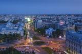 Romania, Bucharest, Piata Universitatii, Coltea Hospital at Dusk Photo by Walter Bibikow
