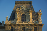 Sunset on Architectural Detail at Musee Du Louvre, Paris, France Photo by Brian Jannsen