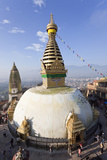 Swayambhunath Buddhist Stupa or Monkey Temple, Kathmandu, Nepal Photo by Peter Adams