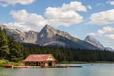 Canada, Alberta, Jasper National Park, Maligne Lake and Boat House Photo by Jamie & Judy Wild
