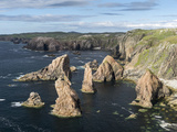 Isle of Lewis, the Cliffs and Sea Stacks Near Mangersta, Uig. Scotland Foto av Martin Zwick