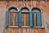 Shuttered Windows in Green, Venice, Italy Photo by Darrell Gulin