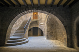 Spain, Barcelona, Temple Roma d'August, Staircase Photo by Jim Engelbrecht