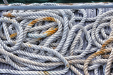 Tortola, British Virgin Islands. Detail of Nautical Rope Wit Rust Photo by Janet Muir