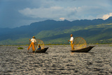 Intha Fisherman Rowing Boat with Leg on Inle Lake, Shan State, Myanmar Photo by Keren Su