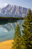 Canada, Alberta, Banff National Park, Two Jack Lake and Mount Rundle Photo by Jamie & Judy Wild