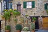 Italy, Tuscany, Courtyard Photo by John Ford