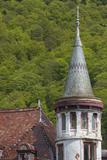 Romania, Transylvania, Sinaia, Antique Resort Building Photo by Walter Bibikow