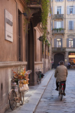 Bicycle with Flowers and Shopping Bags , Parma, Emilia Romagna, Italy Photo by Peter Adams