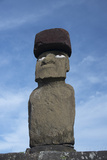 Chile, Easter Island, Hanga Roa. Ahu Tahai, Standing Moai Statue Photo by Cindy Miller Hopkins