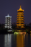 Gold and Silver Pagoda Evening Light, Guilin, China Photo by Darrell Gulin
