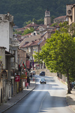 Bulgaria, Central Mts, Veliko Tarnovo, Traffic in Varosha, Old Town Photo by Walter Bibikow