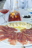 Portugal, Porto, Ham and Mozzarella Cheese Appetizer, Sangria Photo by Jim Engelbrecht