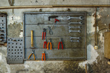 Tools on Wall in Old Repair Shop in Persembe Pazar, Istanbul, Turkey Photo by Ali Kabas