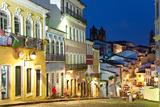 Colonial Centre at Dusk, Pelourinho, Salvador, Bahia, Brazil Foto von Peter Adams