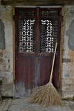 Hongcun Villiage, Doorway with Broom, China, UNESCO Photo by Darrell Gulin