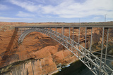 Arizona, Coconino Co, Glen Canyon Dam Bridge across the Colorado River Photo by Kevin Oke
