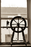 Spinning Wheel in a Window, Wilmington, Illinois, USA. Route 66 Photo by Julien McRoberts
