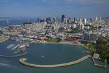 California, San Francisco, Pier and Maritime Historical Park, Aerial Photo by David Wall