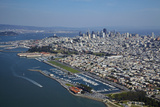 California, San Francisco, Yacht Clubs and Downtown, Aerial Photo by David Wall