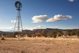 Windmill in New Mexico Landscape Photo by Sheila Haddad