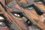 Papua New Guinea, Murik Lakes, Karau Village. Traditional Carved Masks Photo by Cindy Miller Hopkins