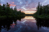 Sunrise on Little Berry Pond in Maine's Northern Forest Foto von Jerry & Marcy Monkman