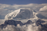 USA, Alaska, Denali, Mt. Mckinley Summit in Clouds Photo by John Ford