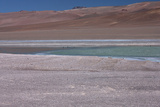 Altiplano, Chile, in the Atacama Desert Is This Green Lagoon Photographie par Mallorie Ostrowitz
