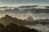 Waves Crashing on Rocks at Sunset, Asilomar State Beach, California Photo by Sheila Haddad