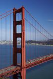 California, Traffic on Golden Gate Bridge, and San Francisco Bay Photo by David Wall