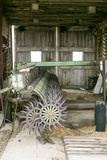 Antique Plow in an Old Wooden Barn, Joliet, Illinois, USA. Route 66 Photo by Julien McRoberts