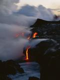 Hawaii Islands, Kilauea, Lava into Ocean Photo by Douglas Peebles
