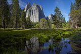 Cathedral Rocks and Pond in Yosemite Valley, Yosemite NP, California Photo by David Wall