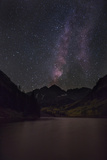 USA, Colorado. the Milky Way Above Maroon Bells Mountains and Lake Photo by Don Grall