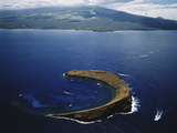 Hawaii Islands, Maui, Wailea-Kihei, View of Molokini Island Photo by Douglas Peebles