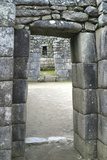 Peru, Machu Picchu, Doorway Photo by John Ford